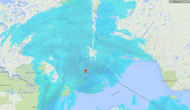 Weather Radar February 10 @ 22:15EST