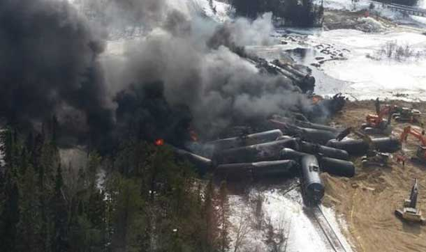 Gogama derailment - Image supplied