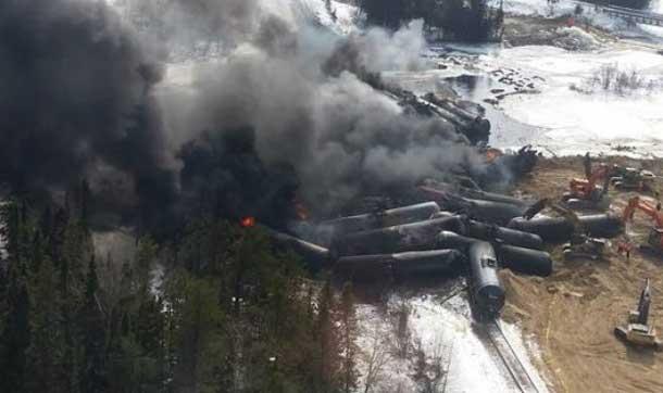 Gogama derailment - Image supplied