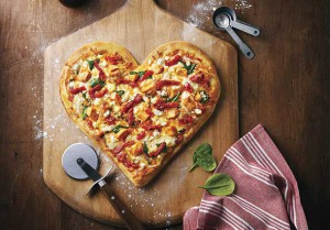 Some serious cheese and smiles at Boston Pizza with Valentine's Day Charity raising