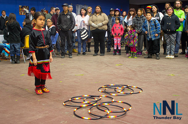 Five year old Rylee Chinchilla brought the crowd to their feet with her Hoop Dance