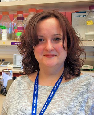 "Melissa Togtema, originally from Manitouwadge, is in the Biotechnology Program at Lakehead University and researching cervical cancer at the TBRRI – one of a growing number of ""homegrown"" scientists."
