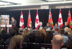 Minister Greg Rickford makes announcement at PDAC on Ring of Fire Development