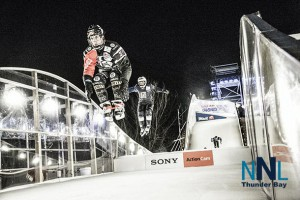Edmonton racers thrilled the huge crowds at the Red Bull Crashed Ice event
