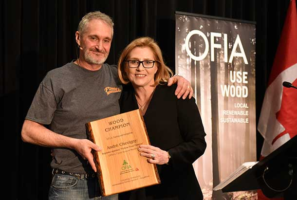 OFIA'S Forest Sector Champion Awards are given to those who work to support the forestry sector