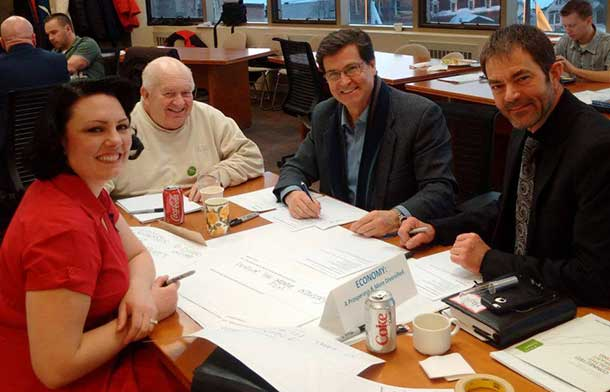 Councillors Shelby Ch'ng, Larry Hebert, Frank Pullia and Manager Mark Smith at Strategic Planning session (Photo supplied)