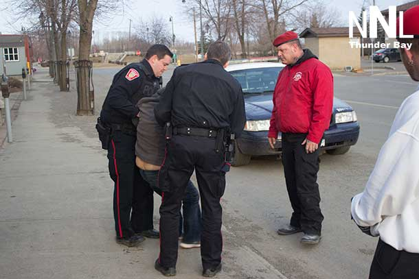 Thunder Bay Police Service officers dealing with a person under the influence
