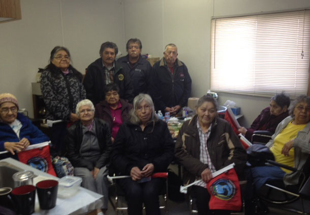 Hornpayne Delegation has taken up a vigil in the Nishnawbe-Aski Nation Offices on Fort William First Nation