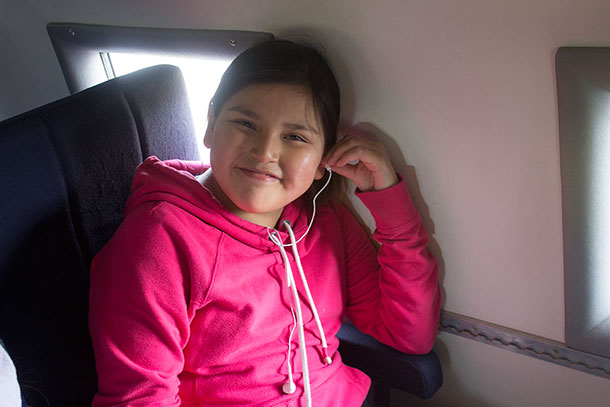 This young lady from Round Lake was all smiles sitting in the plane