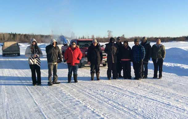 Walkers from Sachigo Lake have started their journey to Thunder Bay.