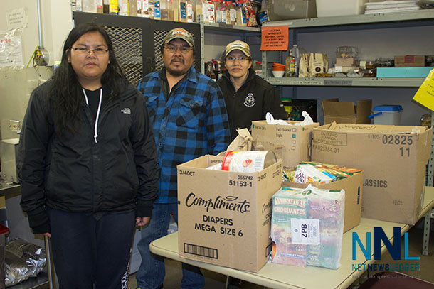 Keeping the momentum going by sharing. The Sachigo Lake Walkers dropped off supplies to Shelter House