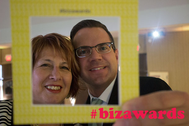 Sue and Sean share a selfie at the Thunder Bay Chamber of Commerce Business Awards.