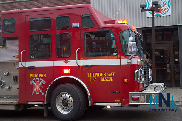 Thunder Bay Fire Rescue on Brodie Street East