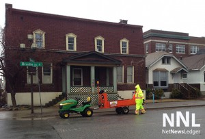 The Fort William BIA was out cleaning sidewalks last weekend.