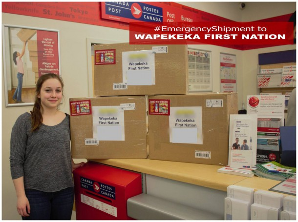 Books with out Bounds has shipped twenty computer tablets and hundred of books to Wapekeka First Nation