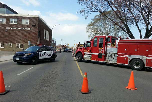 Miles Street was blocked off by Police and Thunder Bay Fire Rescue