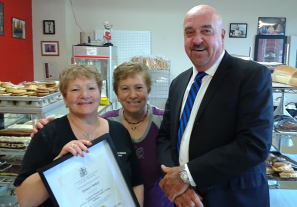Caterina Donato BRUNO, Rosina Donato GAGLIARDI, Mayor Keith Hobbs