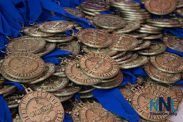 To the runners go the medals