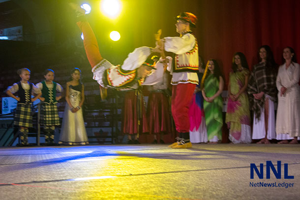 Dancing on the main stage at Folklore during the opening ceremonies - Photo by Mackenzie