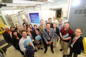 Group of Leaders touring the TBRHSC and TBRRI