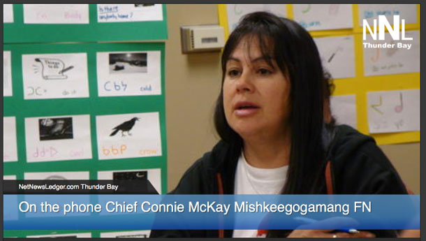 Chief Connie McKay from Mishkeegogamang FN
