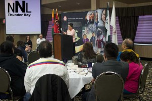 Closing Ceremonies for Mishkeegogaming Walkers at Victoria Inn in Thunder Bay