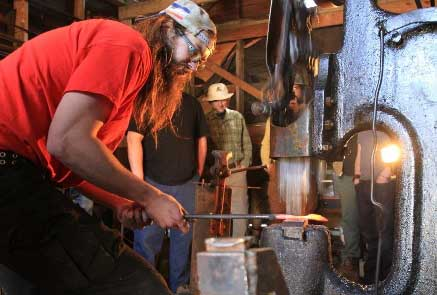 Local metalsmiths, Pike Lake Forge, received a grant of $5000 through Starter Company to start their business. Photo by Elaina Roberts.