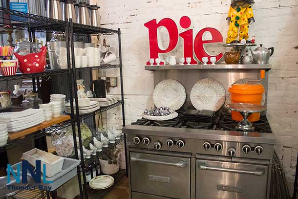"Looking for cool things for your kitchen? There isn't 'Pie"" except in the sign but lots of neat things at the Hub on Victoria Avenue."