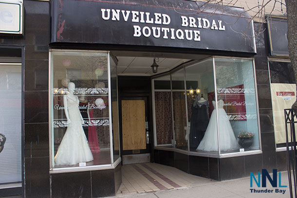 Unveiled Bridal Boutique was broken into on Sunday Afternoon just after 3:00PM