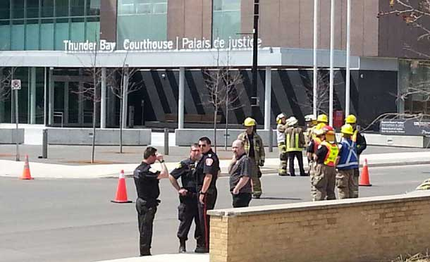 Courthouse is under evacuation