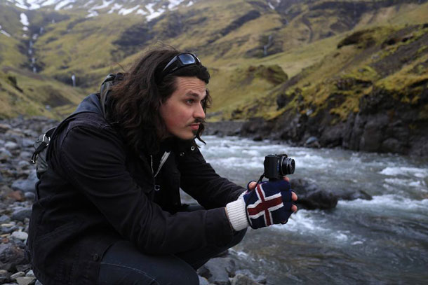 Curtis Jenson in Iceland shooting with his trusty Sony