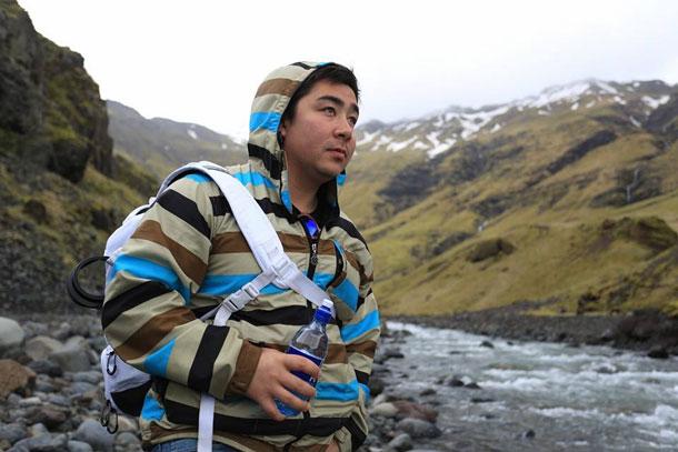 Damien Gilbert, the 'Dman' in Iceland