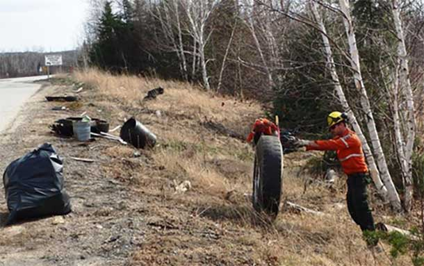 Fort Frances Fire Rangers taking advantage of the weather to clean up woodlands.