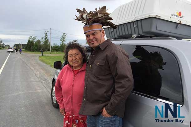 Elder Josephine Mandamin with Ontario Regional Chief Isadore Day