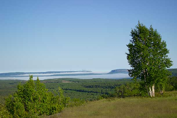 The view from the Lookout at Mount McKay or Anemki Wajiw