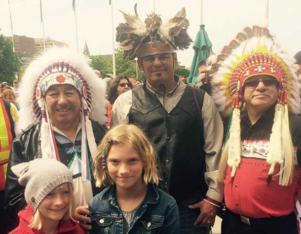 Ontario Regional Chief Beardy, Chief Isadore Day and Nishnawbe-Aski Grand Chief Harvey Yesno