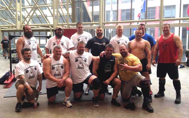 Competitors at Ontario Strongest Man Competition 2015