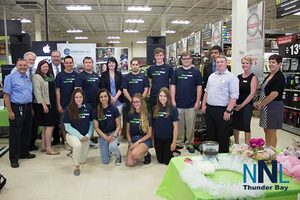 Summer Company launch at Staples in Thunder Bay