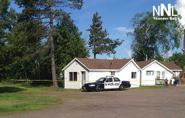 Thunder Bay Police Service has maintained the scene at the trailer court