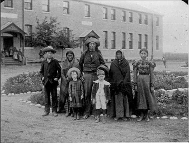 The goal of residential schooling was to separate children from their families, culture, and identity. Saskatchewan Archives Board, R-A2690.