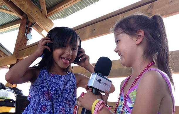 Youth are a key part of the Pow Wow. The technology of the livestream brings youth together.