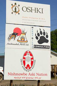 Business offices on Fort William First Nation