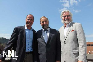 Andrew Foulds, TBSN, Tom Mulcair NDP Leader, John Rafferty MP TBRR