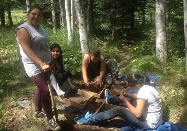 First Nations Youth Participate in an Archaeological Dig as part of the Youth Employment Programs at Confederation and Lakehead.