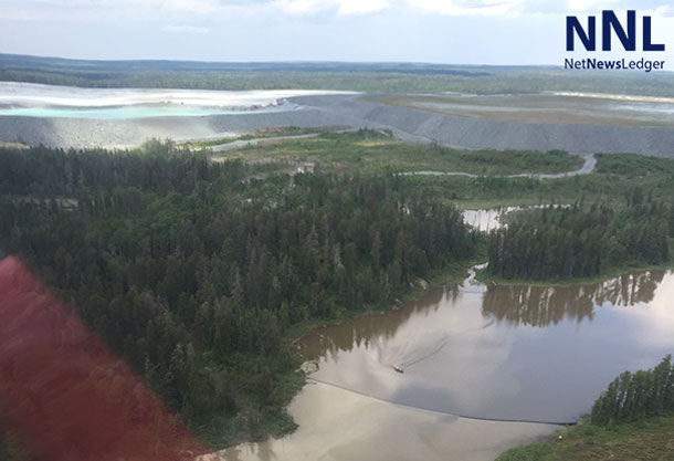 Tailings Pond at North American Palladium's Lac Des Mille Lac Mine