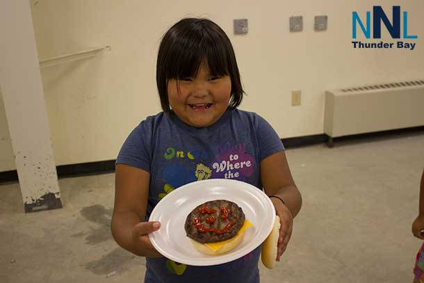 Happy hamburgers in Deer Lake as North Star Air held its community day in the First Nation.