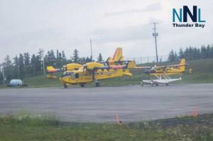 MNRF Water Bomber at Pickle Lake Airport