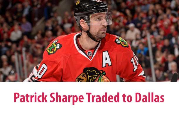 Thunder Bay's Patrick Sharpe is headed to the Dallas Stars