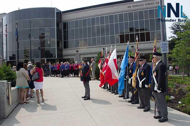 Peace Bell Ceremony at Thunder Bay City Hall