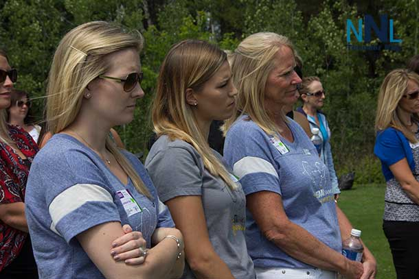The Staal Ladies were taking in the golf clinic and listening carefully, could the Staal men be now facing serious challenges?